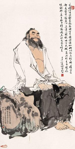 范曾书画赏析 - 云游老道  - 崂山隐士的茅庐